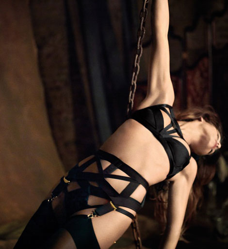 Monica Cruz lingerie for Agent Provocateur