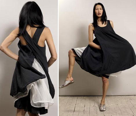 Summer Favorite Dress: Black & White Apron Dress
