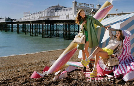 Mulberry Sweetens Up Brighton Beach For Spring Summer 2012