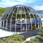 Naomi Campbell glass dome house shaped like the eye of Horus