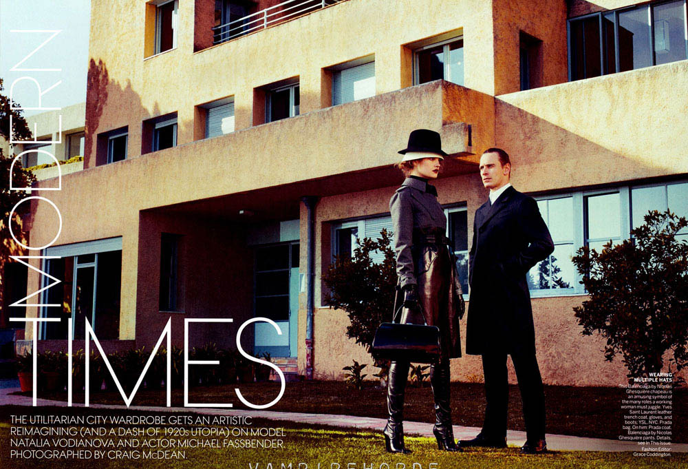 Natalia Vodianova Michael Fassbender Vogue May 2012