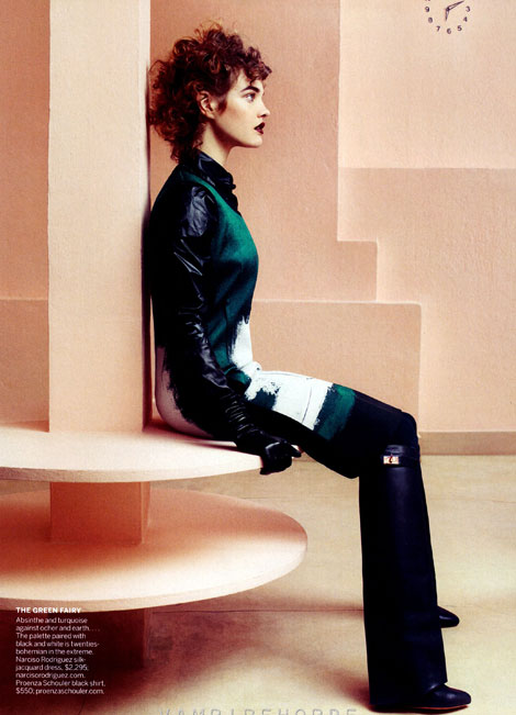 Natalia Vodianova Vogue May 2012 Givenchy boots
