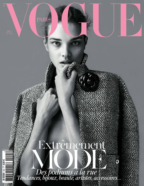 Natalia Vodianova Covers Vogue Paris March 2012