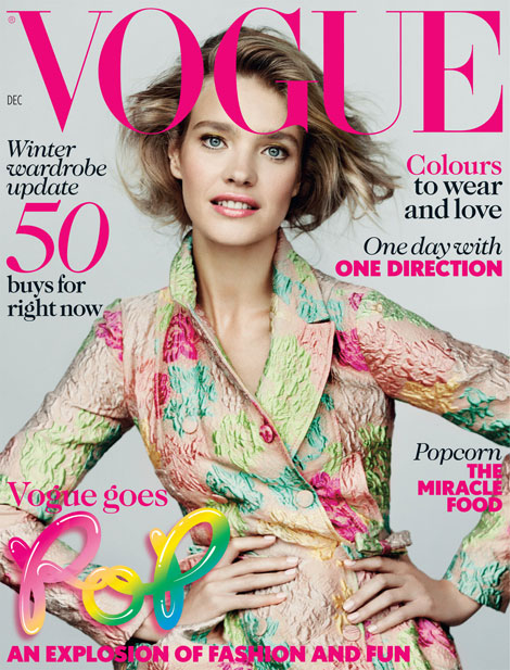 Natalia Vodianova's Vogue UK December Pop Cover