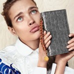 Natalia Vodianova makes funny faces for Stella McCartney fall 2012