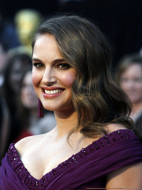 Natalie Portman's Purple Rodarte Dress For 2011 Oscars
