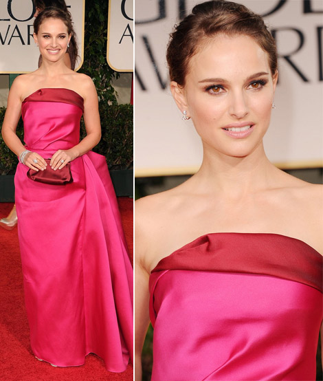 Natalie Portman's Pink Lanvin Dress For 2012 Golden Globes