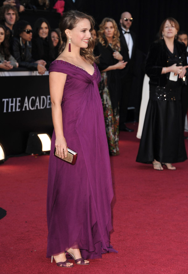 Natalie Portman purple Rodarte dress 2011 Oscars 2