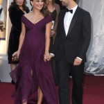 Natalie Portman purple Rodarte dress 2011 Oscars Red Carpet Benjamin Millepied