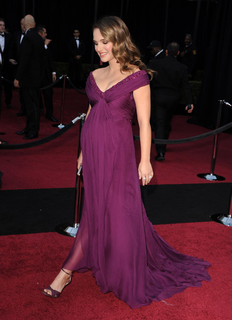 Natalie Portman purple Rodarte dress 2011 Oscars Red Carpet