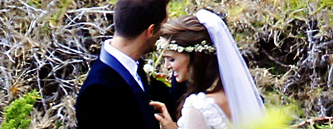 Natalie Portman s white wedding veil and flowers crown