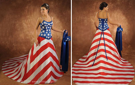 National Flag wedding dress