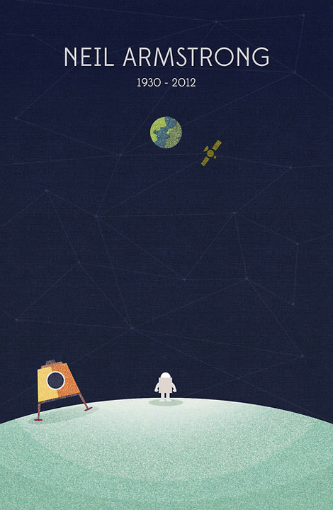 Neil Armstrong great poster