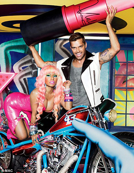 MAC Viva Glam Nicki Minaj And Ricky Martin 2012 Ad Campaign