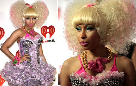 Nicki Minaj pink chicken wing necklace