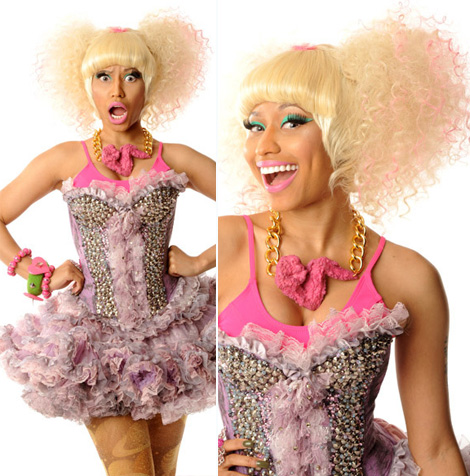 Nicki Minaj wearing the chicken necklace