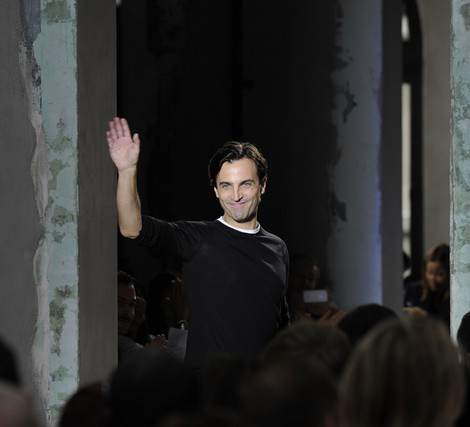 Nicolas Ghesquiere saying goodbye to Balenciaga