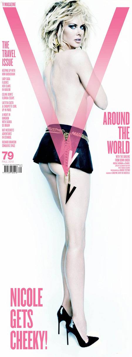 Nicole Kidman's Cheeky V Magazine Fall Cover. Unfold
