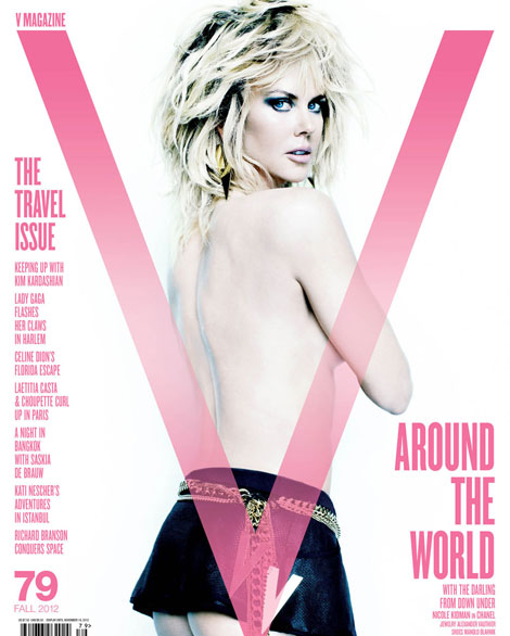 Nicole Kidman edgy different V cover by Mario Testino
