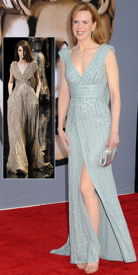 Nicole Kidman soft blue Elie Saab dress BAFTA Brits to watch