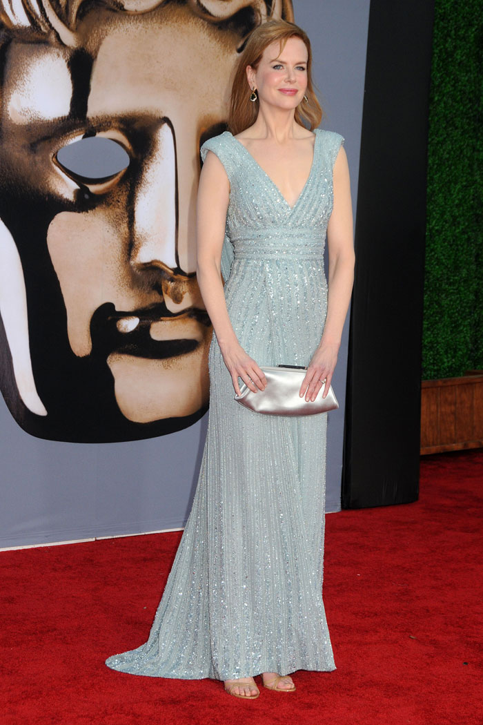 Nicole Kidman's Soft Blue Elie Saab Dress At BAFTA Brits To Watch