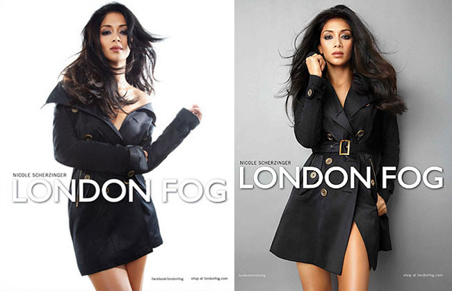 Nicole Scherzinger London Fog ads