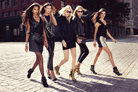 Nine West fall 2012 multi models ad photographed by Craig McDean