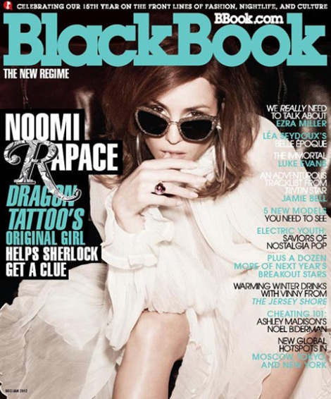 Noomi Rapace's Blackbook December 2011. The Original Dragon Girl