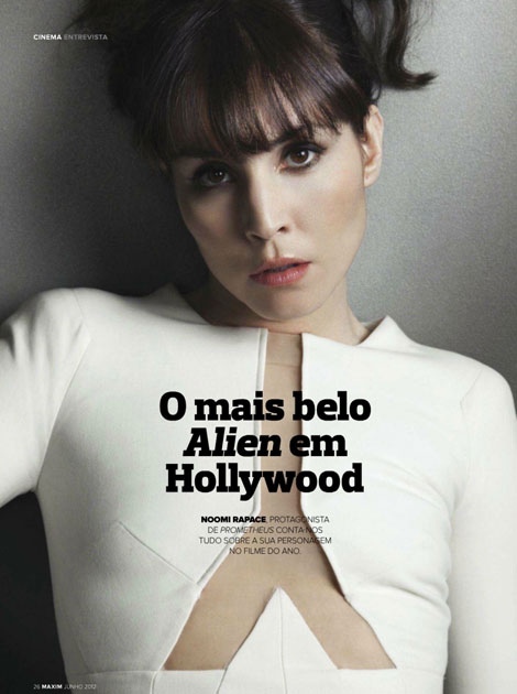 Noomi Rapace Promoting Prometheus In Maxim Portugal