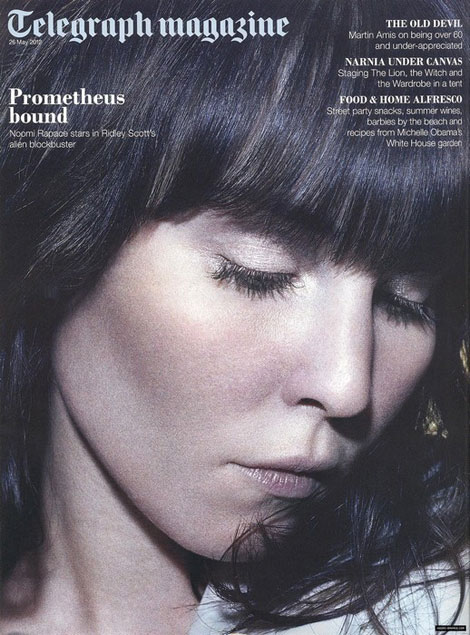 Noomi Rapace's Daily Telegraph Prometheus Cover