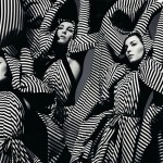 Noomi Rapace striped Gareth Pugh dress Dazed and Confused
