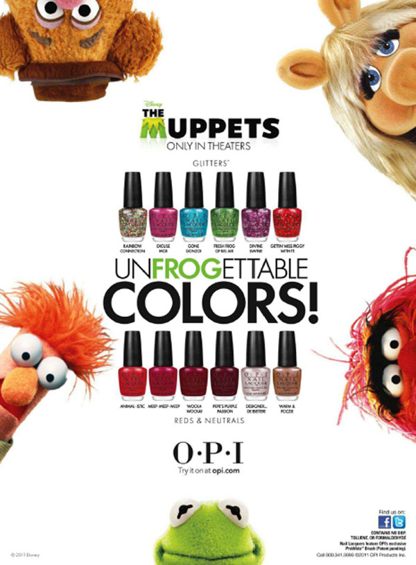 OPI Nail Polish The Muppets Collection