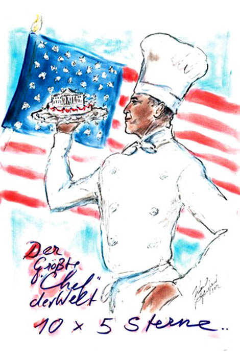 Karl Lagerfeld Vision Of President Obama: Biggest Chef In The World