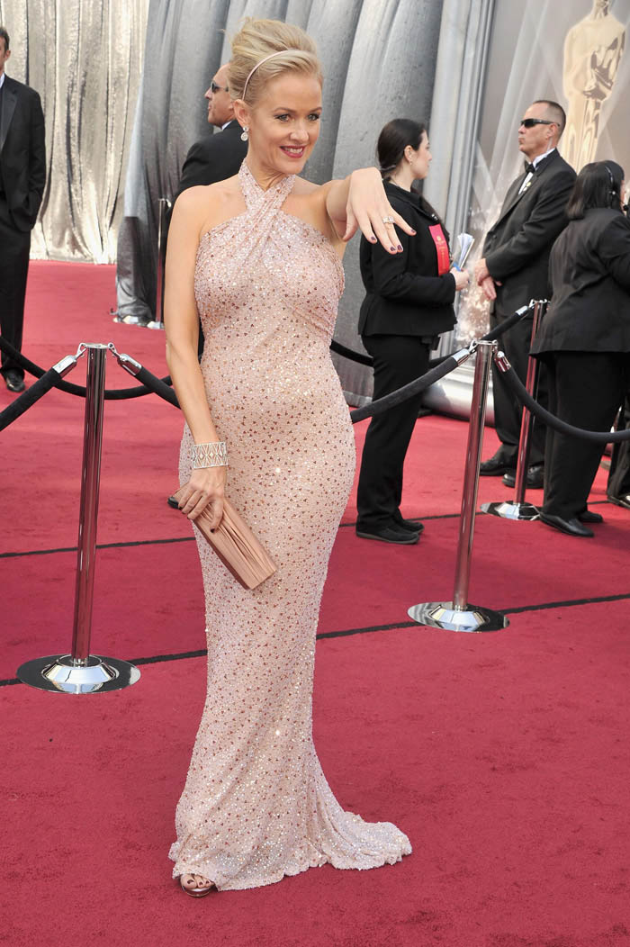Penelope Ann Miller 2012 Oscars Red Carpet dress