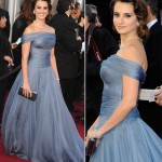Penelope Cruz Armani soft blue dress 2012 Oscars