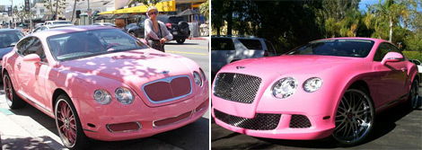 Nicki Minaj Has A New Pink Bentley. Just Like Paris Hilton.