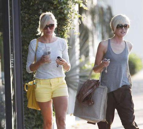 Portia de Rossi Cameron Diaz go to the same hair salon