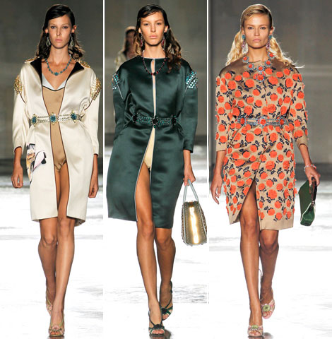 Prada Summer 2012 coats