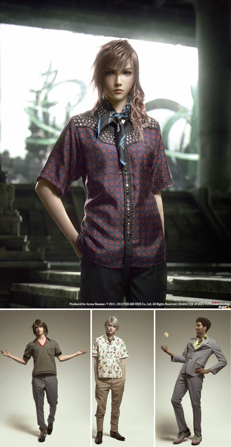 Prada costumes for Final Fantasy characters