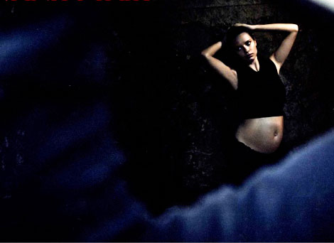 Pregnant Adriana Lima for 2013 Pirelli Calendar