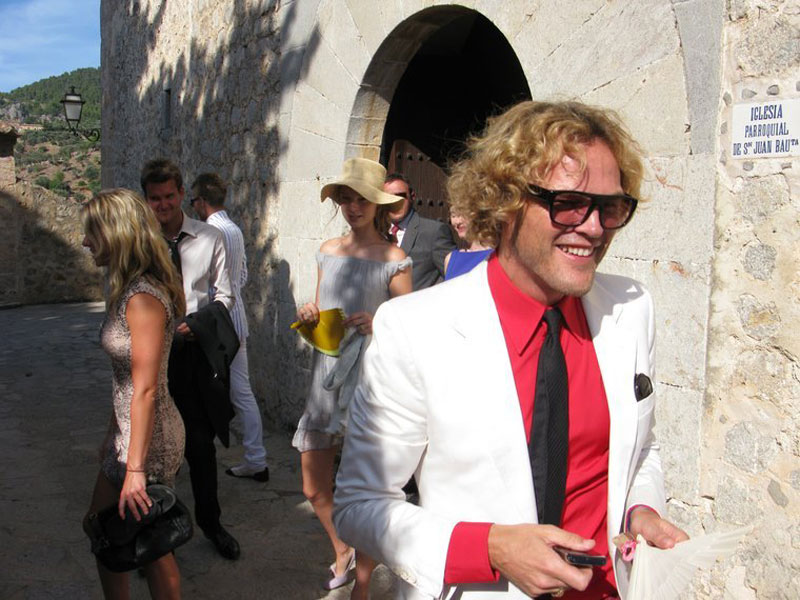 Pucci Peter Dundas designer guest at Anja Rubik wedding