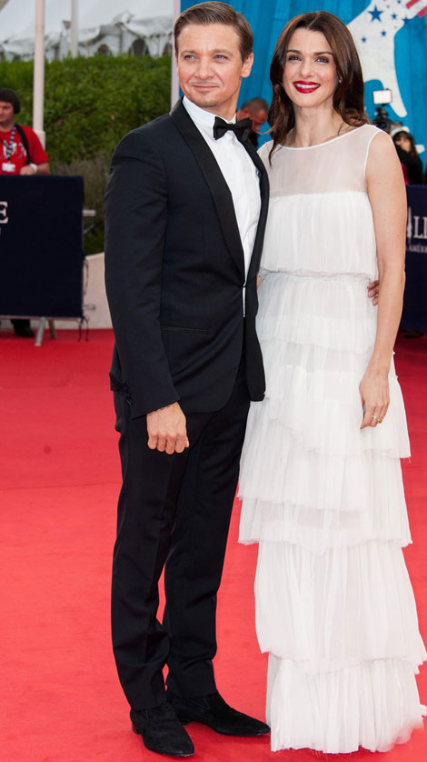 Rachel Weisz Premieres Bourne Legacy In France Wearing Nina Ricci White Dress