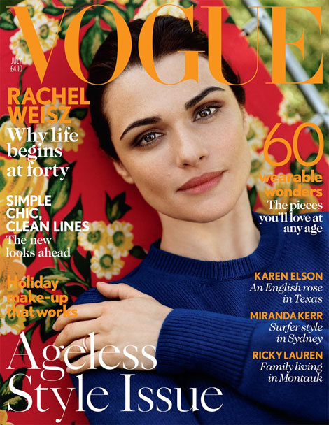 Rachel Weisz Covers Vogue UK July 2012