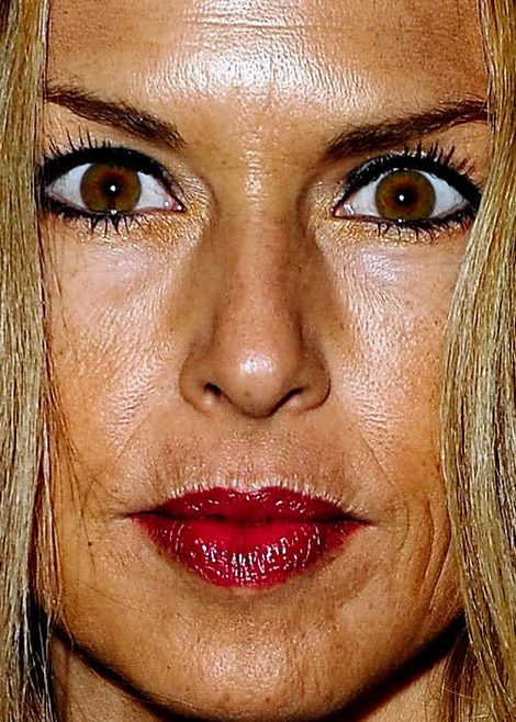 Rachel Zoe face skin close up