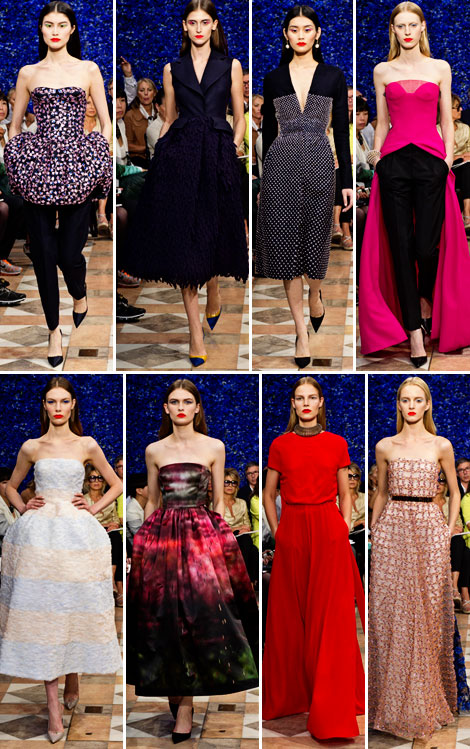 Raf Simons' Christian Dior Haute Couture Fall 2012 Collection