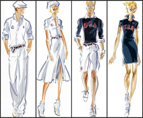 Ralph Lauren designed for the US Olympic Team 2012