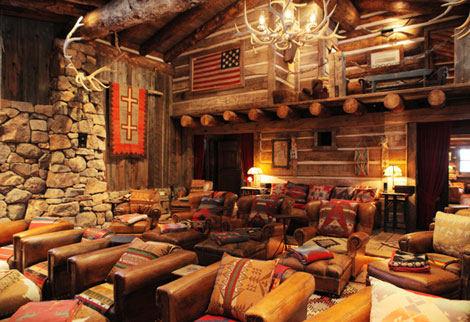 Ralph Lauren Ranch cinema room