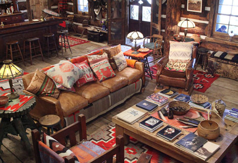 Ralph Lauren Ranch interior
