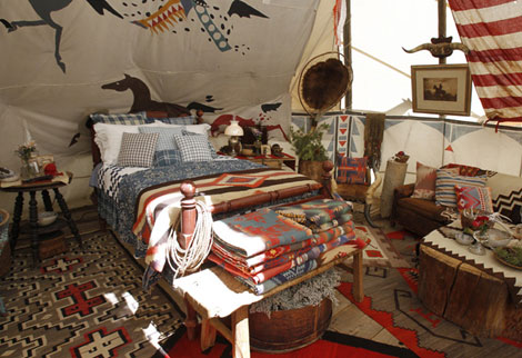 Ralph Lauren Ranch Tipi interior