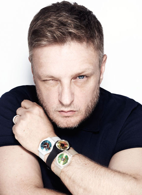 Rankin wearing his Swatches